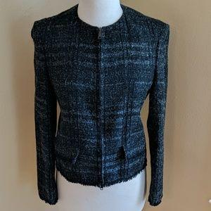Burberry Black Tweed Jacket With Sequins